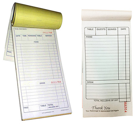 Business Books and Forms Restaurant Docket Books – Delivery Docket