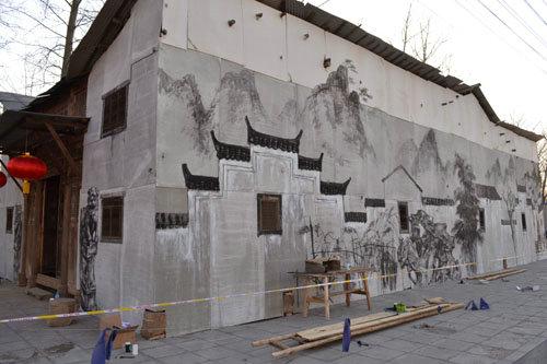 徽派建筑外墙壁画