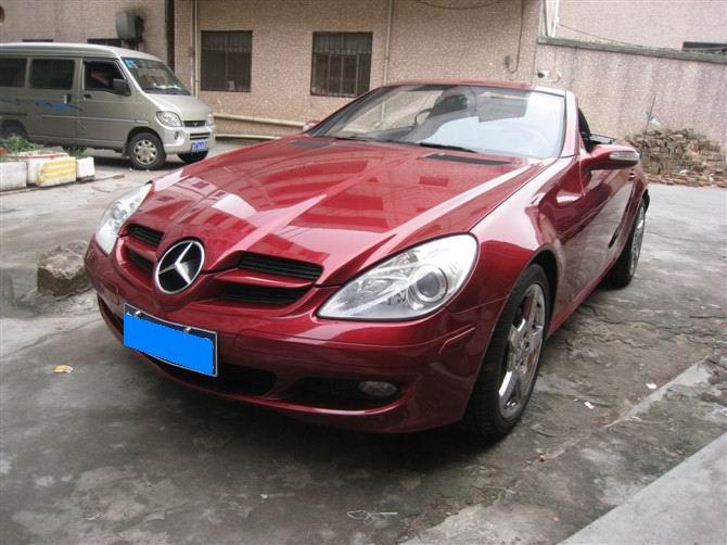 车,黄江进口二手车,低价二手车 06年奔驰slk350跑车红色黑内 高清图片