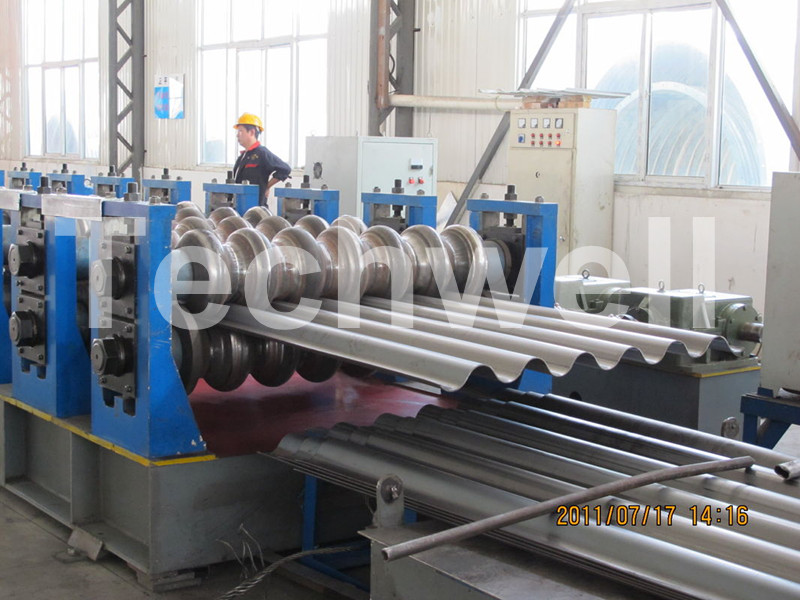 Silo Corrugated Steel Sheet Roll Forming Machine