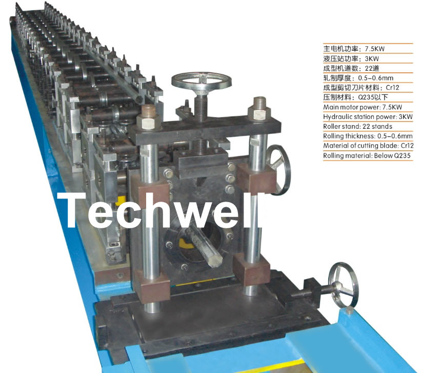Octagon / Octangular Pipe Roll Forming Machine