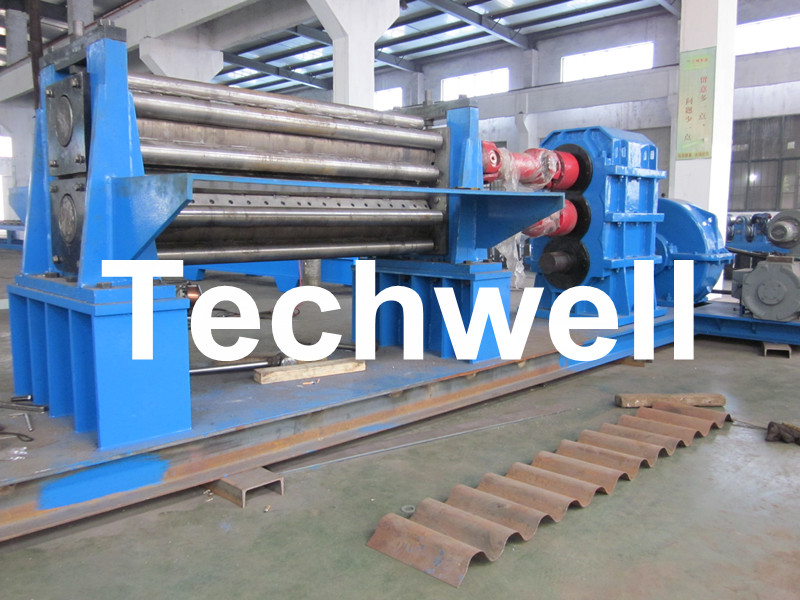 Two Rollers Corrugated Steel Sheet Roll Forming Machine
