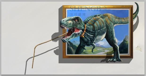 3d墙画——恐龙